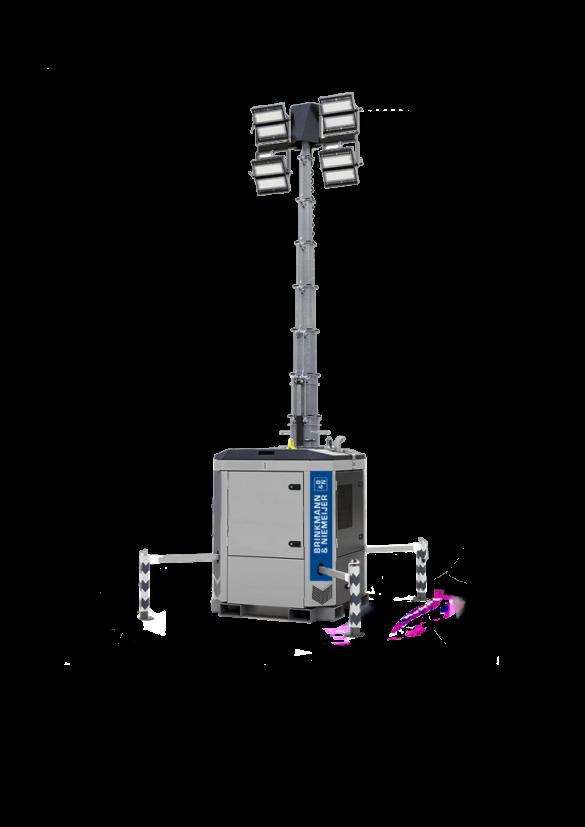 Yanmar box+ lichtmast in handmatige uitvoering    HLM9-B+-60Hz