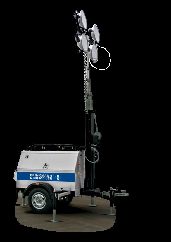 Yanmar mobiele lichtmast in handmatige uitvoering  | HLM9-B-60Hz