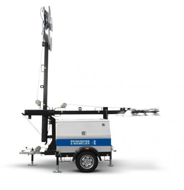 Yanmar mobiele lichtmast in handmatige uitvoering  | HLM9-C-60Hz